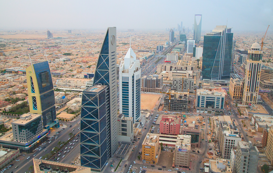 Aerial view of Riyadh downtown